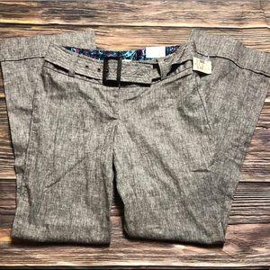 Maurice's Women's trousers Grey w/belt sz 2 NEW